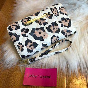Betsey Johnson Leopard Wristlet Wallet
